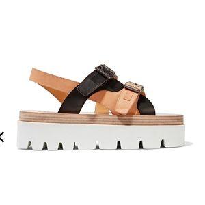 MM6 Maison Margiela Leather Platform Sandals 39